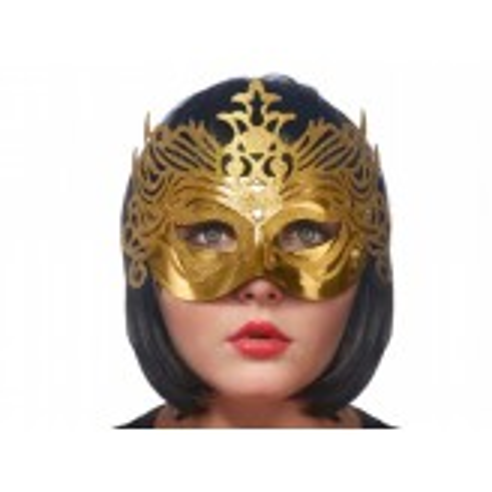 Maska Party z ornamentem, złoty
