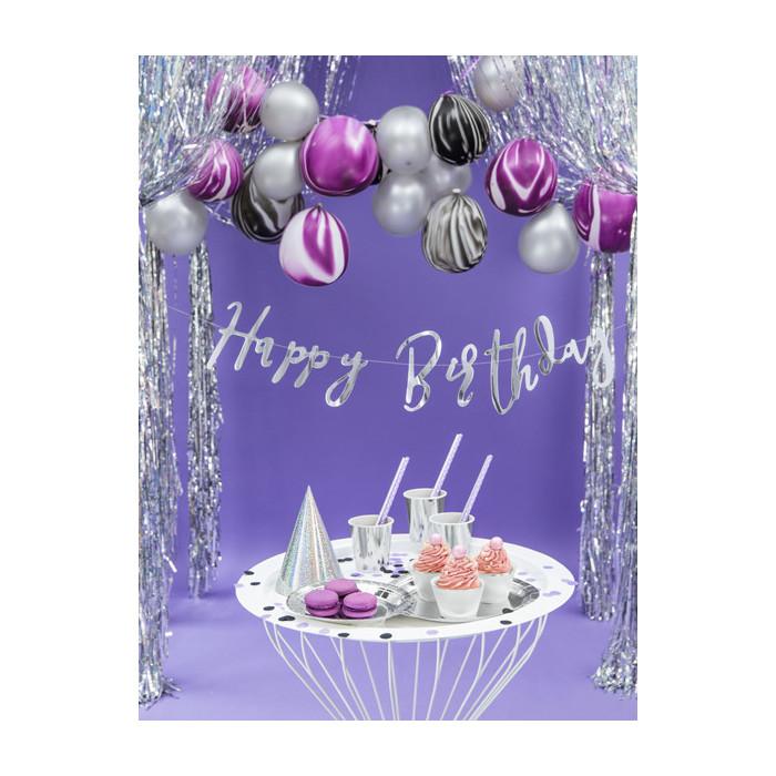 Maska Party z piórami, złoty i różowy