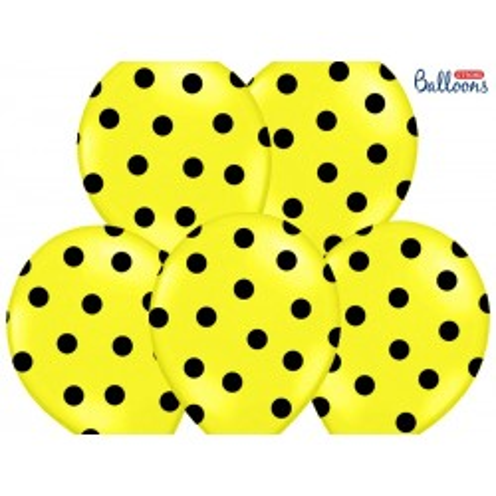 Balony 35 cm, Kropki, Pastel Lemon Zest