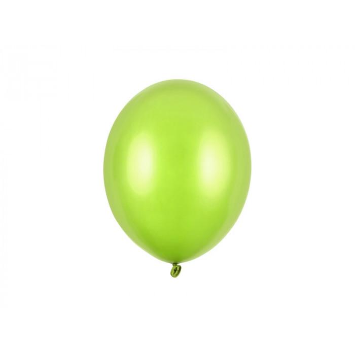 Balony 35 cm, Kropki, Pastel Lime Green