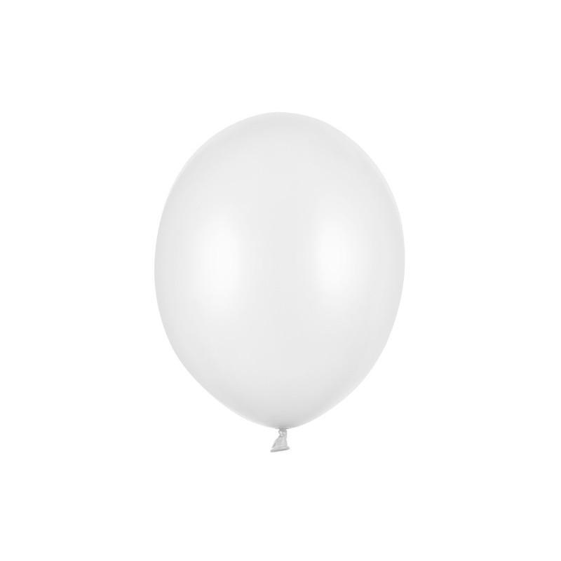 Balony 35 cm, Serduszka, Pastel Pure White