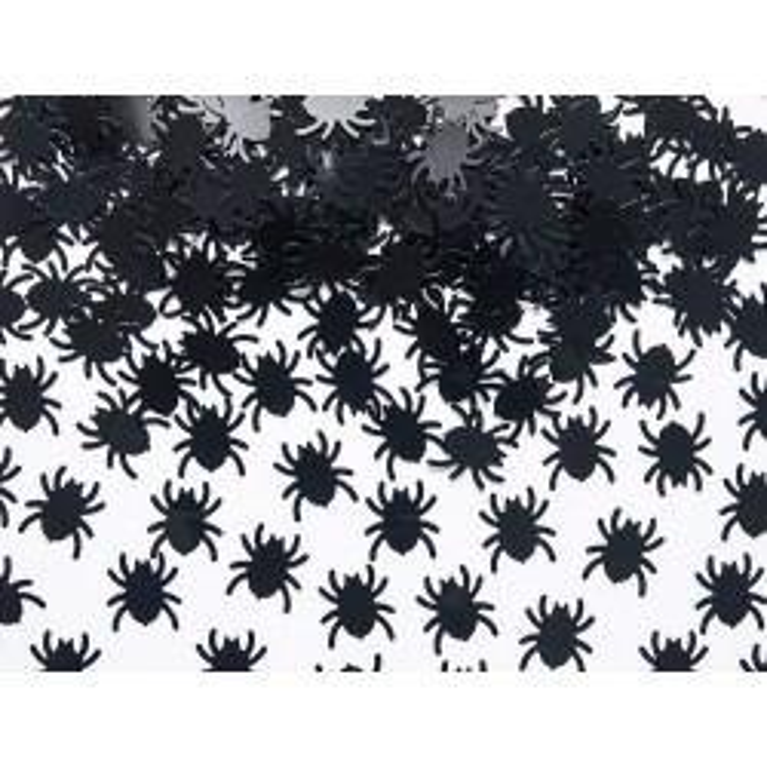 Konfetti Pająki, czarny, 1,2 x 1,2cm, 15g