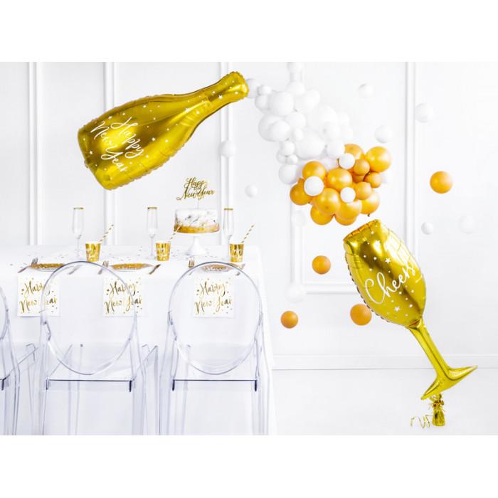 Balony 35 cm, 4th Birthday, Metallic Mix