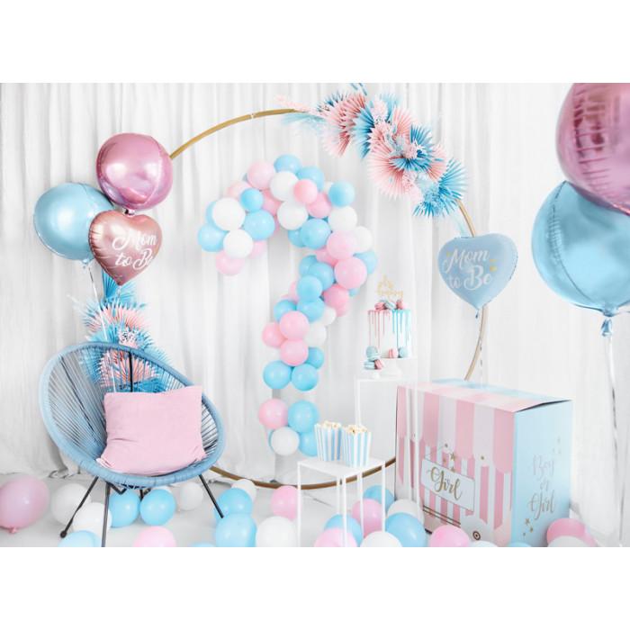Balony 35 cm, 6th Birthday, Metallic Mix