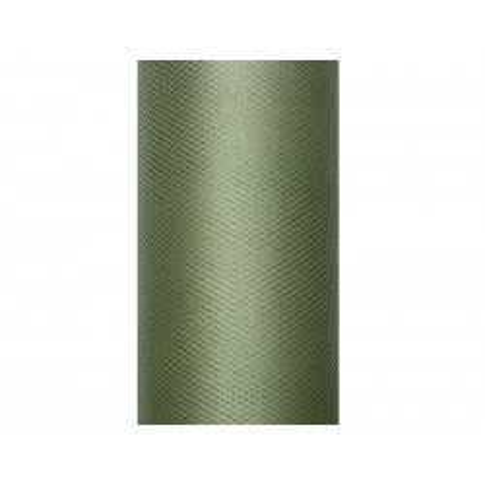 Tiul gładki, zielony, 0,15 x 9m