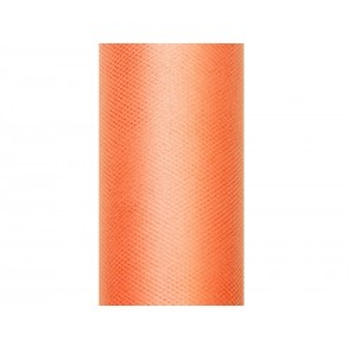 Tiul gładki, pomarańcz, 0,30 x 9m
