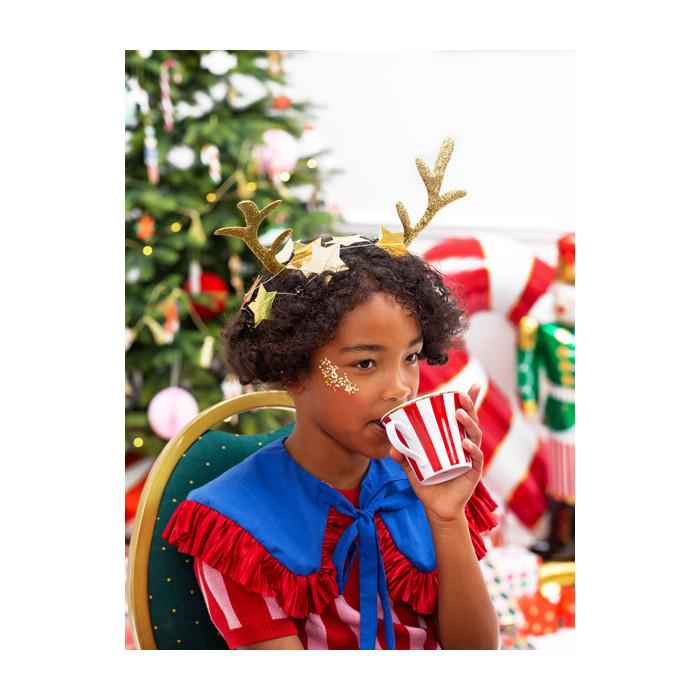 Tiul gładki, czerwony, 0,30 x 9m