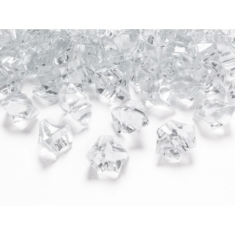 Kryształowy lód, bezbarwny, 25 x 21mm