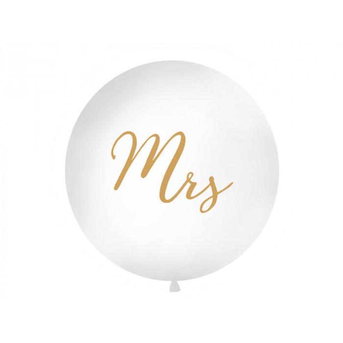 Świeca stożkowa metaliczna, perłowy, 24cm