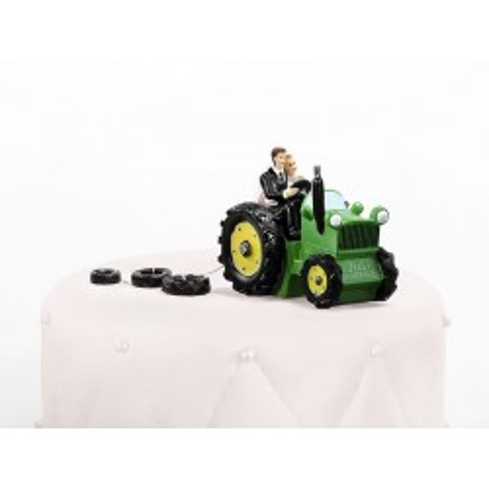 Figurka Para Młoda na traktorze, 11cm