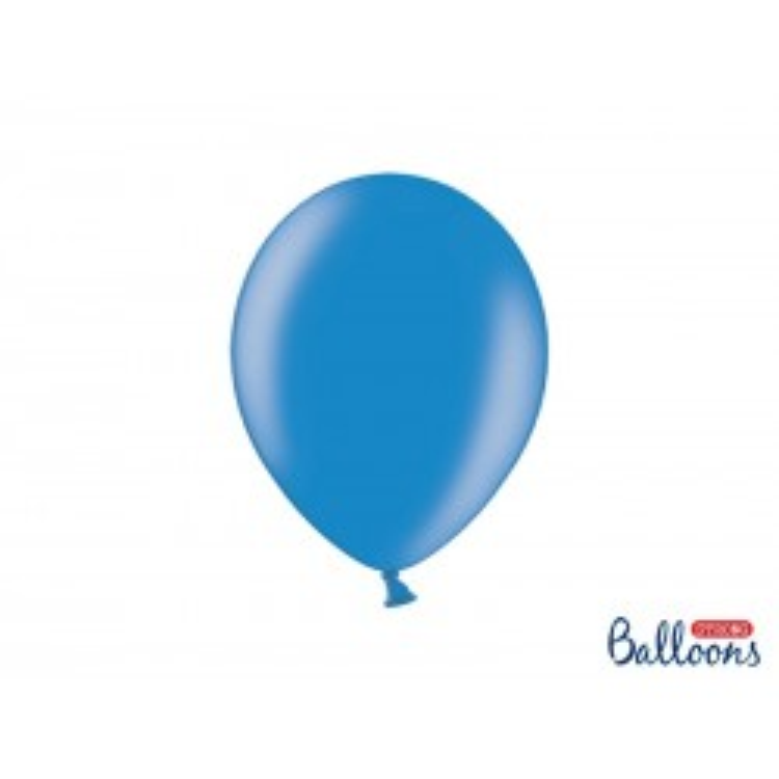 Balony 30 cm, Metallic Cornflower Blue