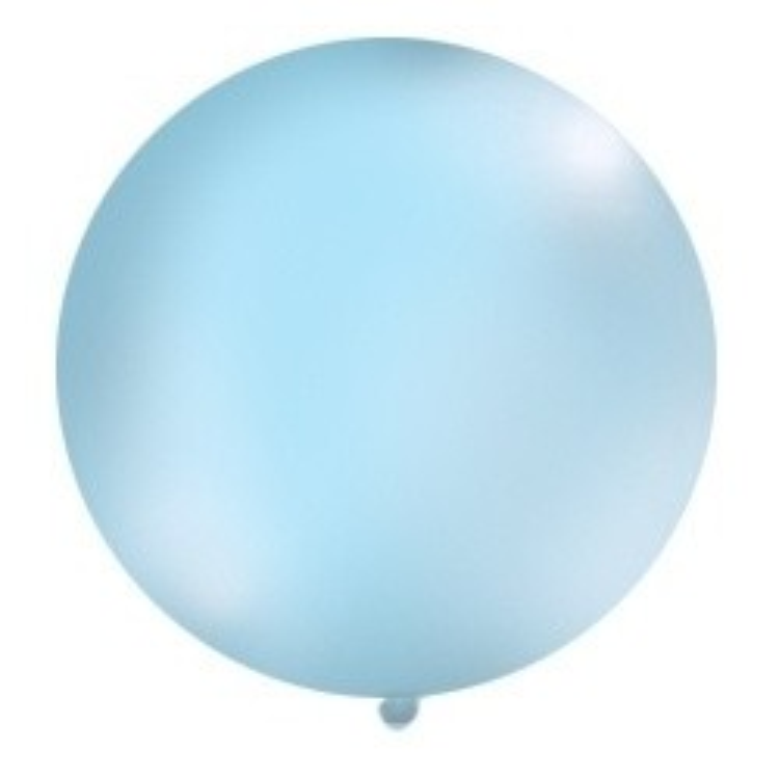 Balon 1m, okrągły, Pastel błękit