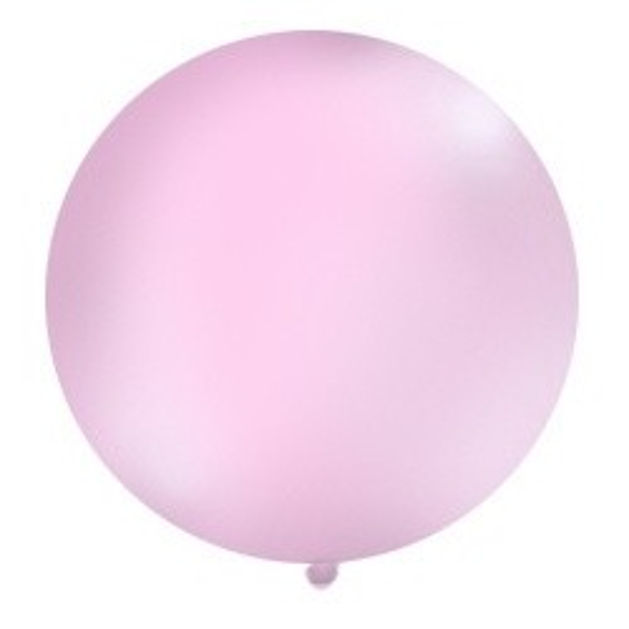 Balon 1m, okrągły, Pastel różowy