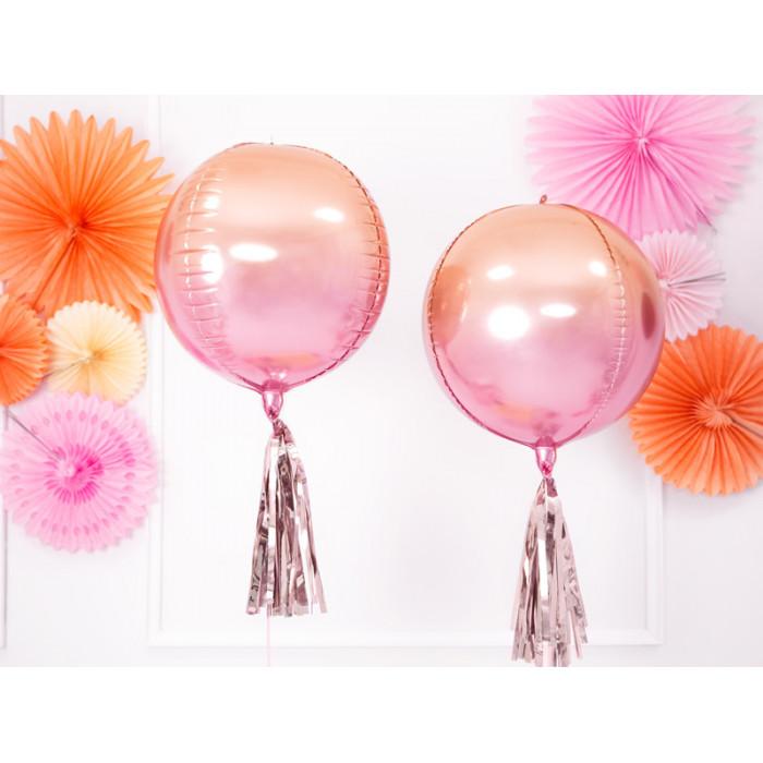Balon 1m, okrągły, Pastel żółty