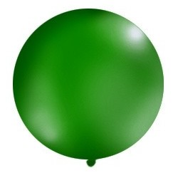 Balon 1m, okrągły, Pastel c. zielony