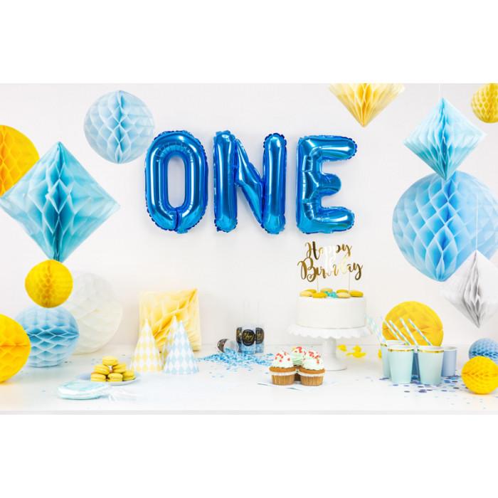 """Balon foliowy 34"""" Cyfra 8, złoty"""