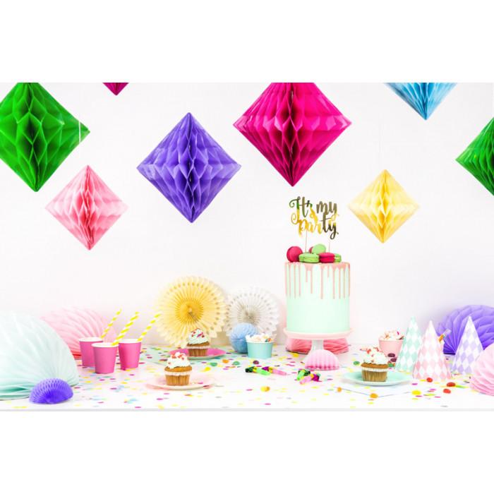Serce kwiatowe puste, biały, 50cm