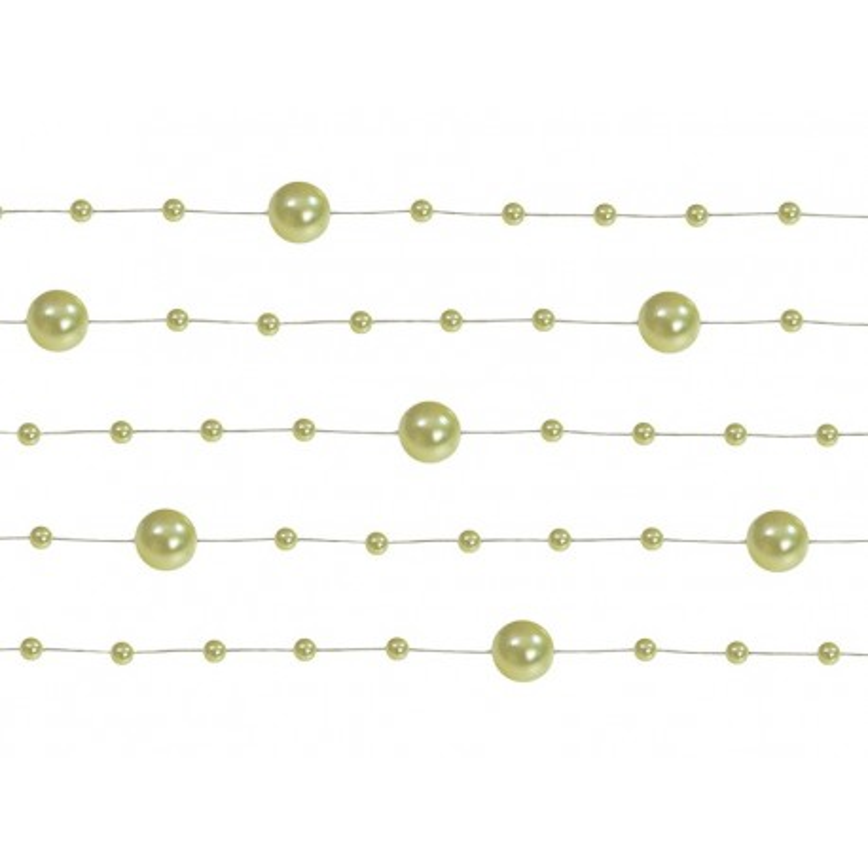 Girlandy perłowe, j. oliwka, 1,3m