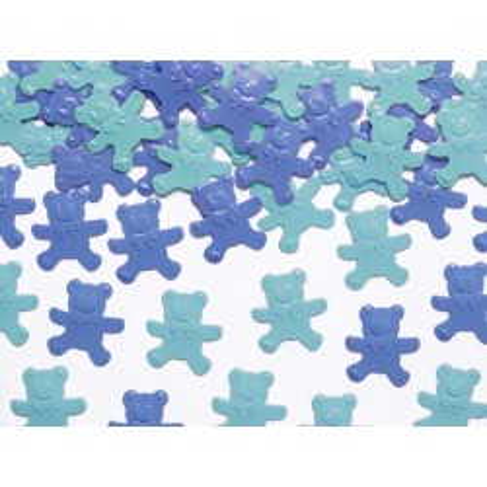 Konfetti Misie, niebieski i błękit, 15g