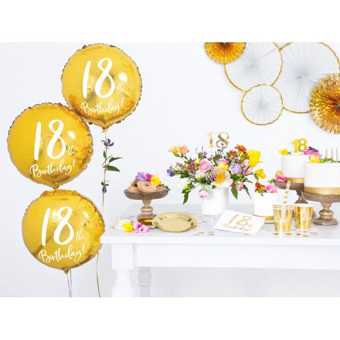 Świeczka urodzinowa Liczba 30, z brokatem