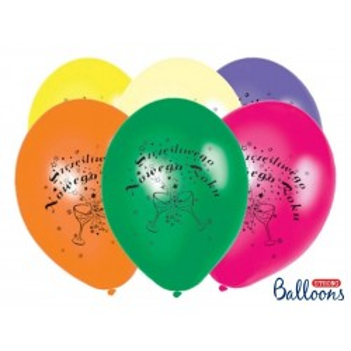 Balony 27 cm, Szczęśliwego.., Pastel Mix