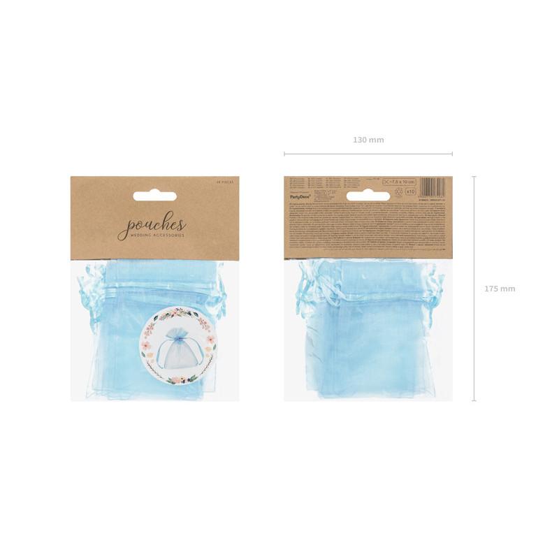 Organza obszywana - zielona - 38cm x 9m