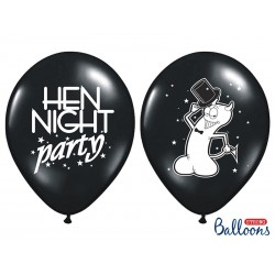 Balony 35 cm, Hen night party, Pastel Black