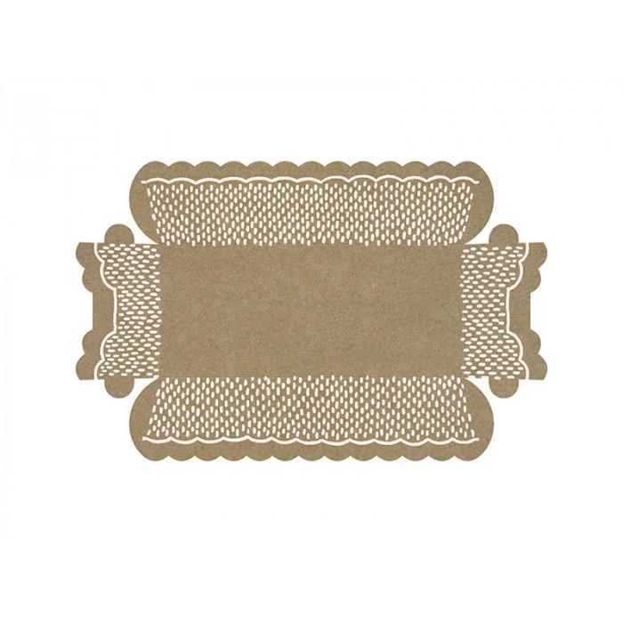 Maska party, niebieski