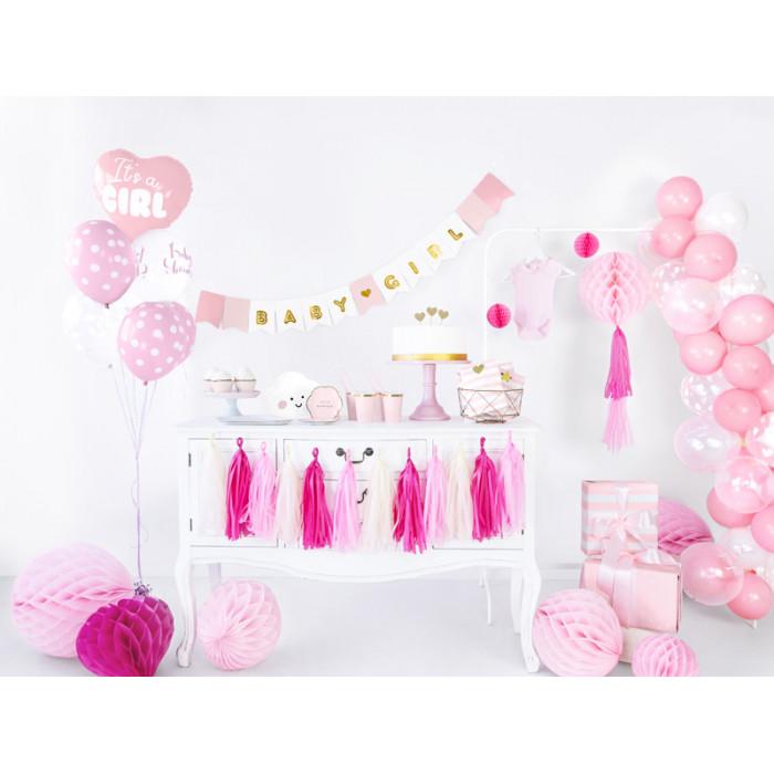 Lampion brokatowy, srebrny, 45cm