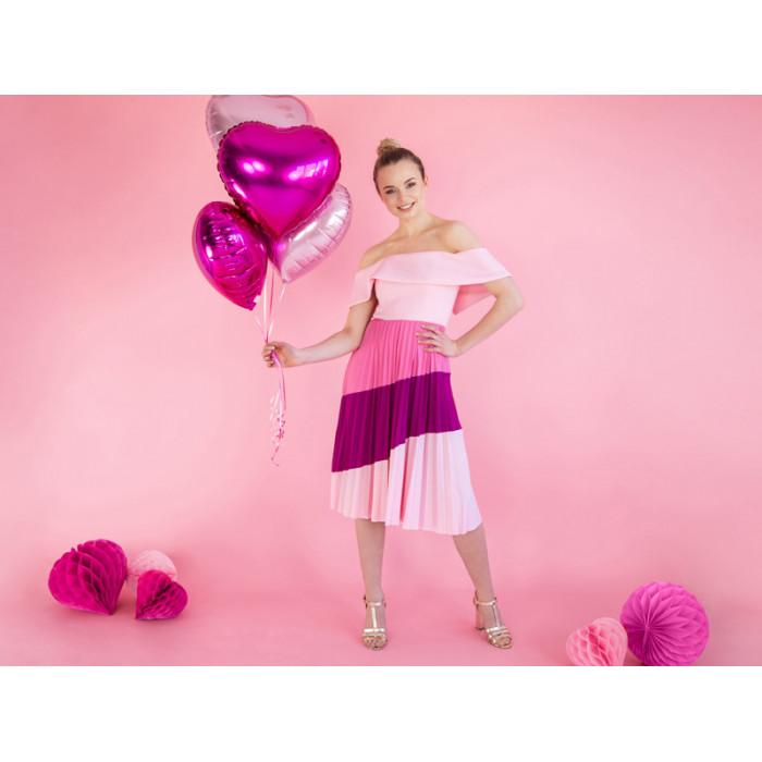 Pompon bibułowy, czarny, 25cm