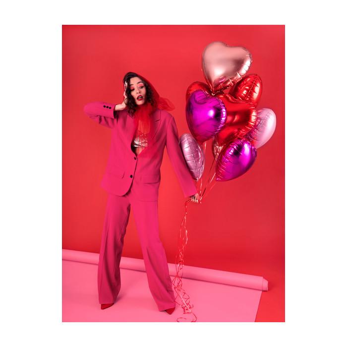 Pompon bibułowy, błękit, 25cm