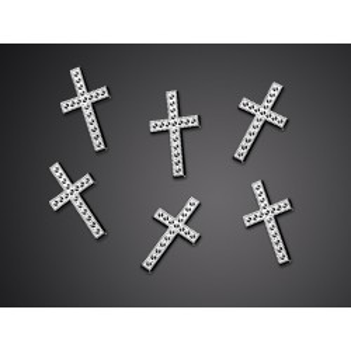Aplikacje Krzyż, srebrny, 27mm