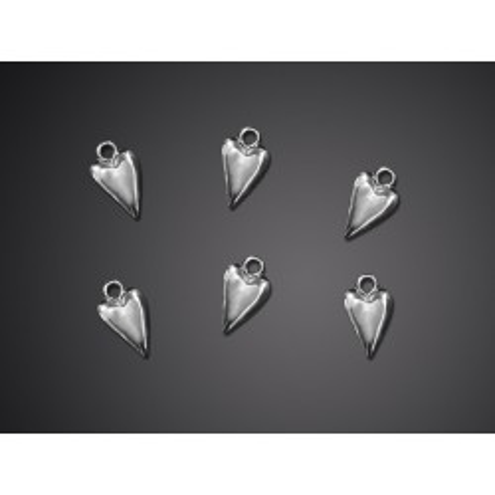 Aplikacje Serce, srebrny, 19mm