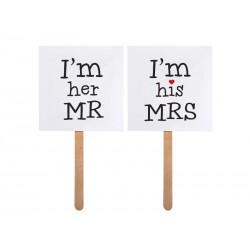 Karteczki I'm his MRS/I'm her MR