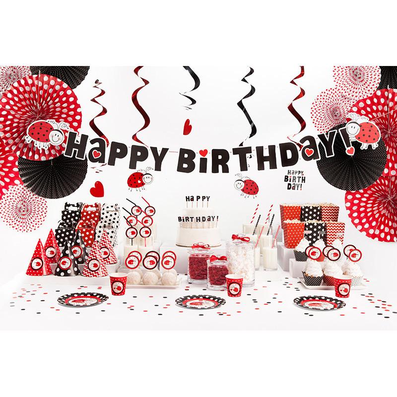Kubeczki plastikowe, czerwony, 355ml
