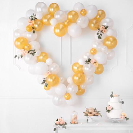 Wstążki ściągane, czerwony, 5cm