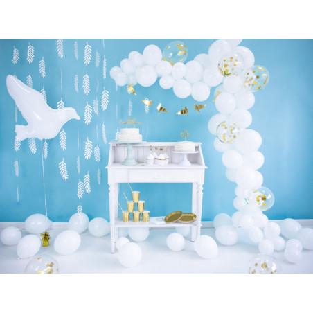 Maska Party z ornamentem, czerwony