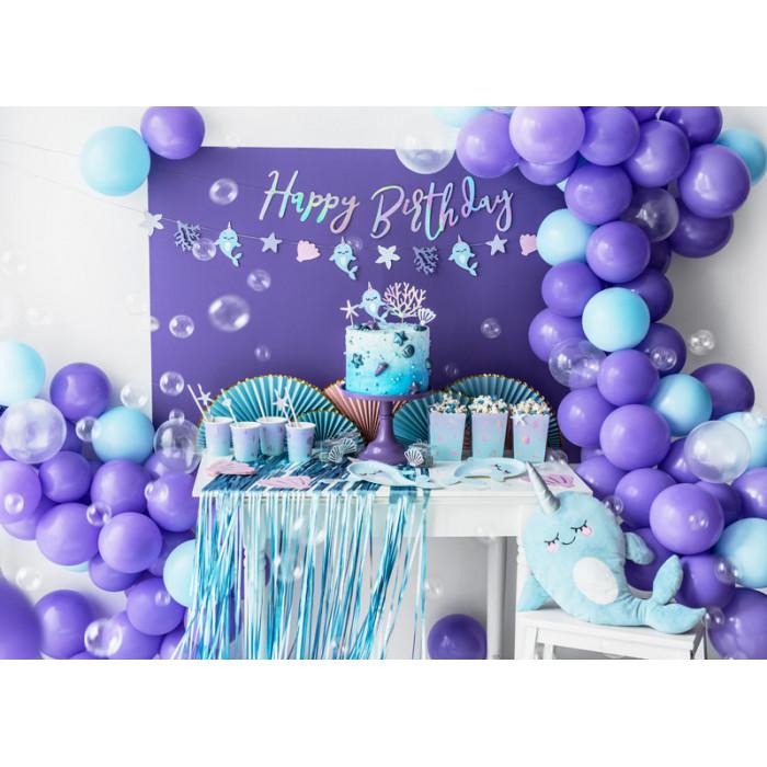 Maska Party z ornamentem, czarny