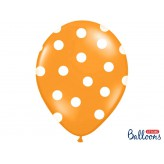 Balony 35 cm, Kropki, Pastel M. Orange