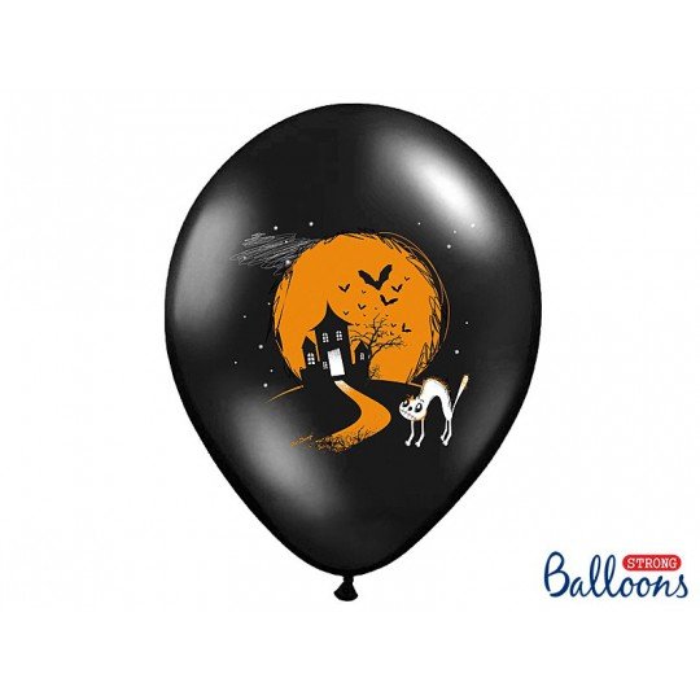 Balony 35 cm, Duszek, Pastel Black