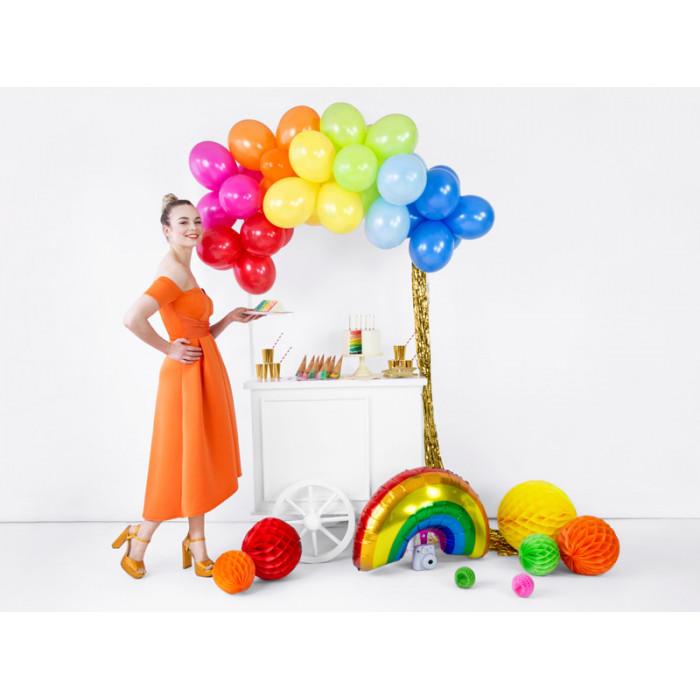 Kokarda satynowa z krzyżem, biały, 17cm