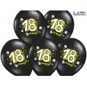Balony 35 cm, 18 & crazy, Pastel Black