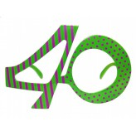 Okulary 40, zielony