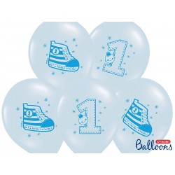 Balony 35 cm, Trampek - Number 1, P. Blue