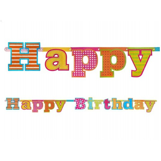 Baner Happy Birthday, 16 x 166cm