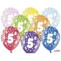 Balony 35 cm, 5th Birthday, Metallic Mix