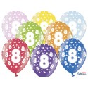 Balony 35 cm, 8th Birthday, Metallic Mix