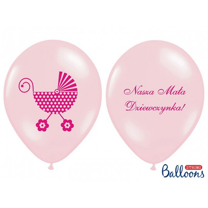 Balony 35 cm Nasza Mała Dziewczynka, P. Pink
