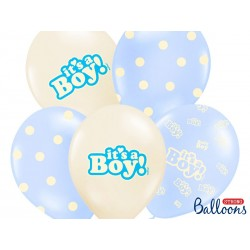 Balony 35 cm, It's a Boy, Pastel Mix