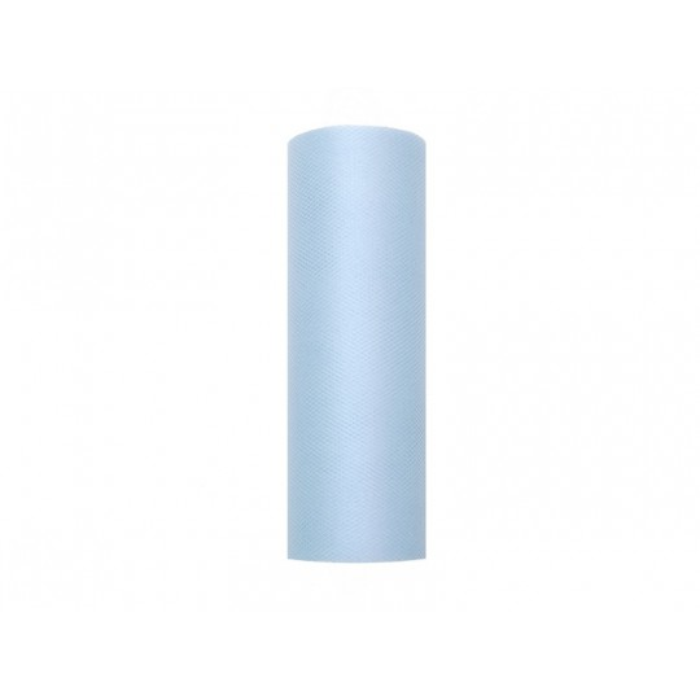 Tiul gładki, błękit, 0,15 x 9m